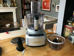 Cuisinart® FP-1GM Elemental 8-Cup Food Processor with 3-Cup