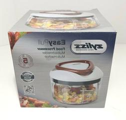 NEW Zyliss Easy Pull Manual Food Processor and Food Chopper,